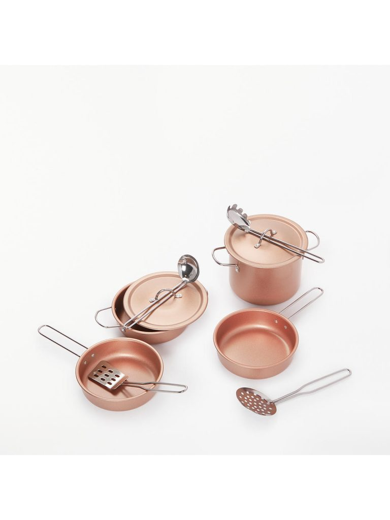 Children's pots and pans for a mud kitchen