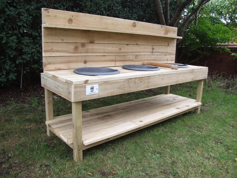 Large Mud Kitchen 3 Bowls