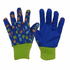 Kids gardening gloves blue