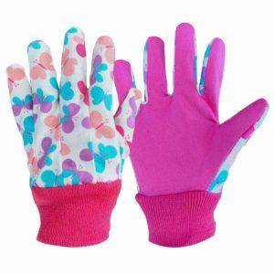 Kids gardening gloves pink