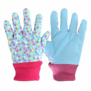 kids gardening gloves with dots