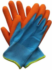 Briers Kids Junior Digger Orange & Blue Gloves