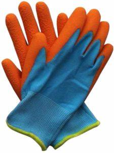 Briers Kids Junior Digger Orange & Blue Gloves