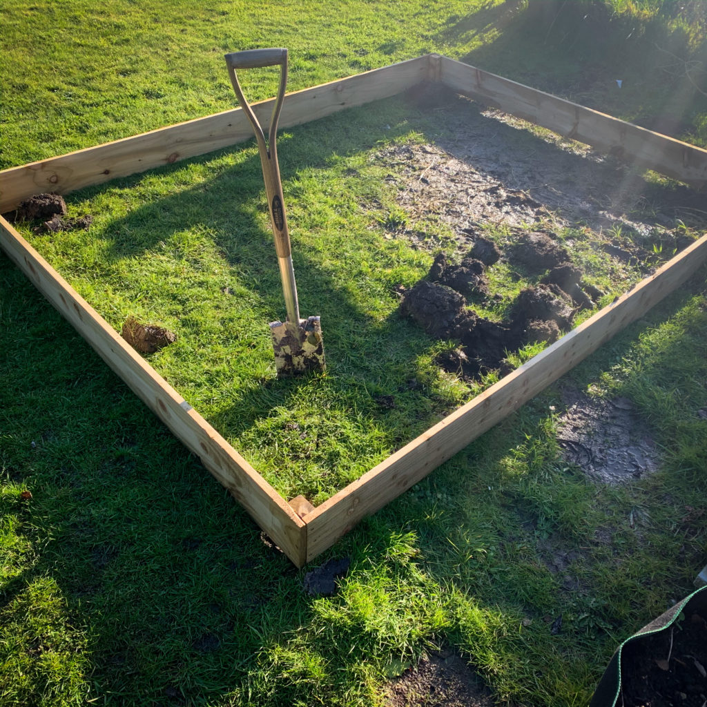 New raised bed for the kids garden