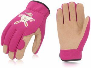 VGO Children's Pink Gardening Gloves