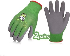 Vgo 2Pairs Kids Gloves for Age 5-7, Bamboo Fibre