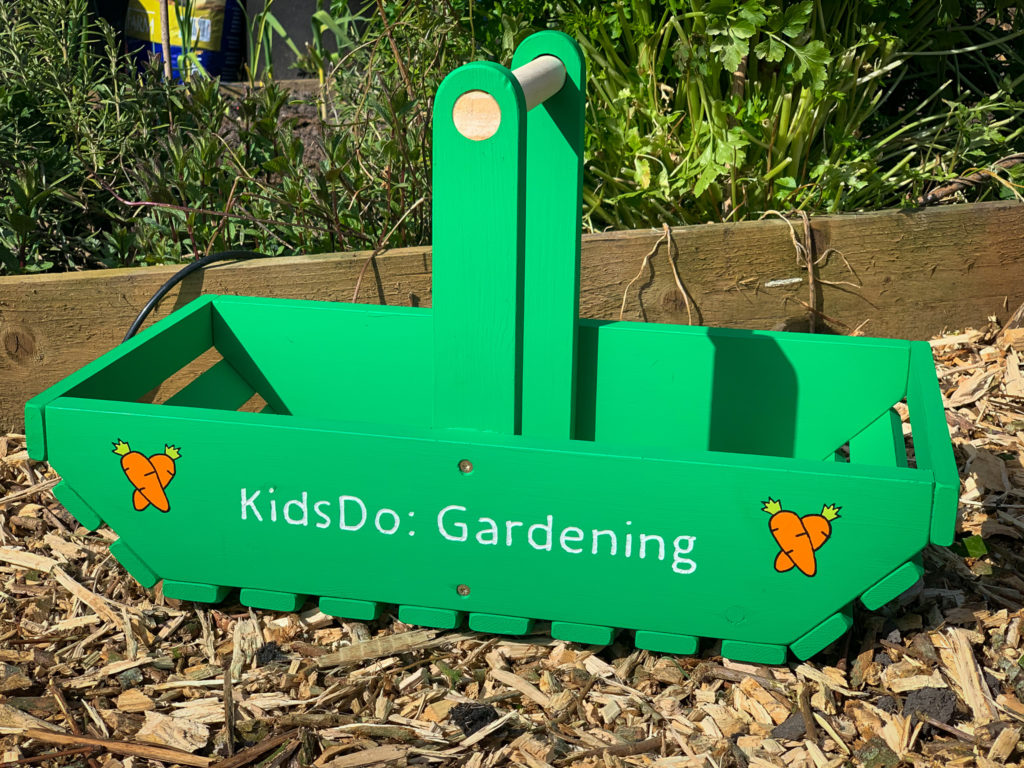 Kids gardening vegetable trug